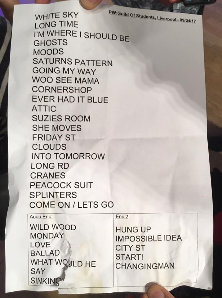 Liverpool set list 2