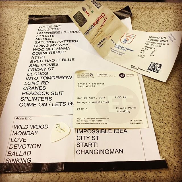 PW - Northampton set list 2017