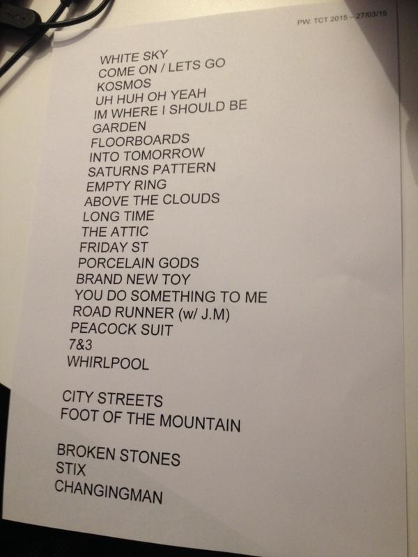 TCT Set List