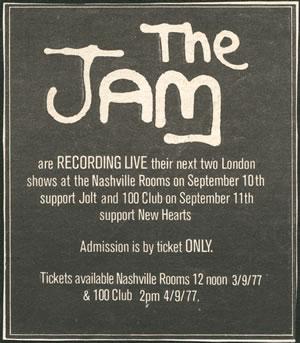Jam Live advert
