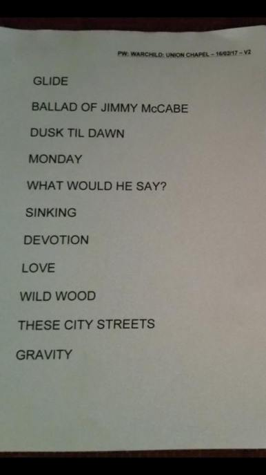 warchild-set-list-1