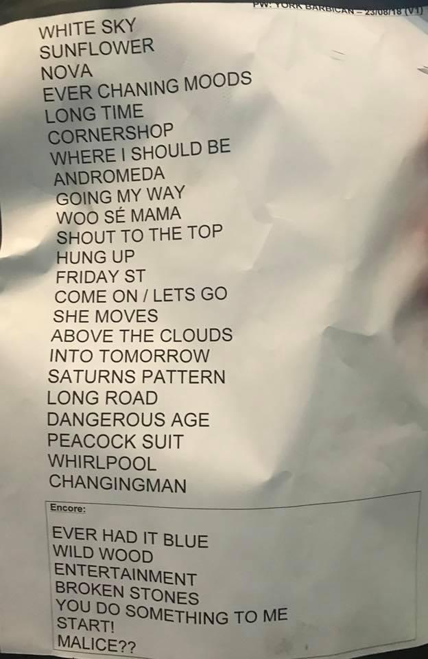PW-York-2018-Set List
